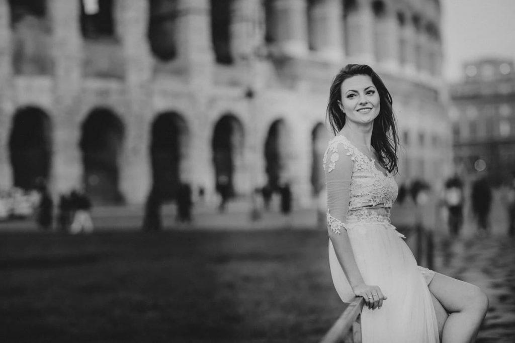 romantyczny plener rzym